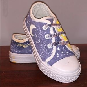Other - Hand Painted Night and Day Sneakers